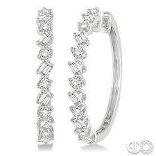 diamond hoops best 25 diamond hoop earrings ideas on diamond