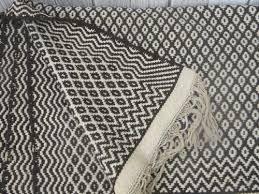 Wool Indian Rugs Heavy Handwoven Natural Wool Indian Blanket Rug Vintage 30
