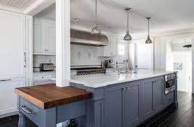 blue kitchen island with oak cabinets kitchen islands with columns designing idea