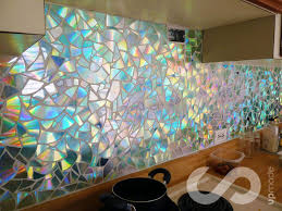how to use old cds for mosaic craft projects diy kitchen