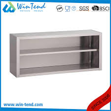 wall mounted kitchen storage cupboards item stainless steel open wall mount storage cupboard cabinet for kitchen