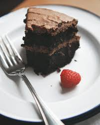 vegan chocolate cake with chocolate sour cream frosting u2014 a better