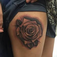 40 rose thigh tattoo design ideas