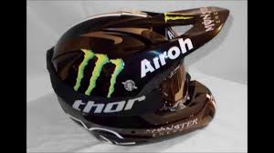 monster energy motocross helmets airoh stelt monster painting youtube