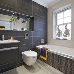 Gray Tile Bathroom Ideas by Grey Bathroom Ideas Contemporary Bathroom Gray Tiles Ideas