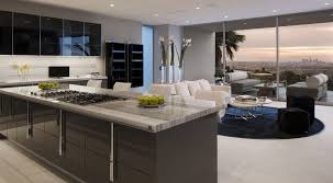 luxury modern grey marble or granite with gorgeous kitchen of