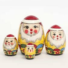 nesting dolls russian matryoshka glass figurines christmas ornament