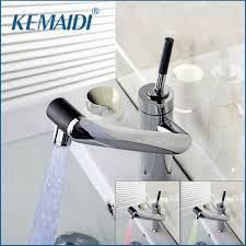 deck mount kitchen faucet kemaidi new deck mounted kitchen faucet temperature sensor swivel