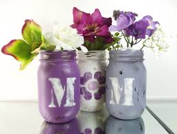 home decor gifts for mom mom purple mason jars gifts for her rustic chic decor colored