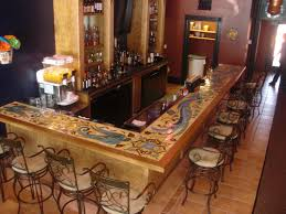 decorating enchanting tile bar top ideas with beautiful pattern