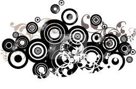 imagenes abstractas con circulos diseño de fondo abstracto con círculos vinilos para portátiles
