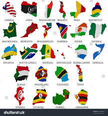 Africa Maps by 100 Africa Map Outline With Countries Editable Blank Vector