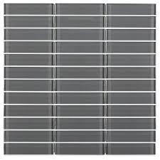loft ash gray stacked glass tiles bathroom remodel pinterest