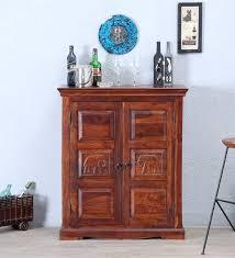 Oak Bar Cabinet Buy Siramika Solid Wood Bar Cabinet In Honey Oak Finish By