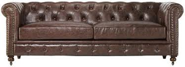 Restoration Hardware Kensington Leather Sofa Restoration Hardware Kensington Chesterfield Leather Sofa