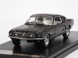 1967 Black Mustang Premium X Prd366j Ford Mustang Gt Fastback 1967 Black 1 43