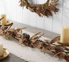 feather pine cone garland pottery barn