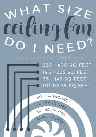 ceiling fan size in inches how to choose a ceiling fan best fans under 200 somewhat simple