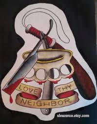 love thy neighbor tattoo flash pictures to pin on pinterest
