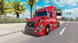 volvo truck 2017 skin red fantasy v2 0 for volvo truck vnl 780 for american truck