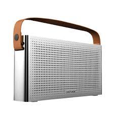 hifi design anlagen bluetooth lautsprecher im radio design mit ledergriff audio