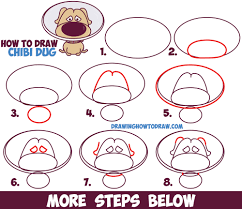 how to draw dug cute kawaii chibi from up the dog from up