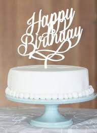 happy birthday cake topper is one birthday cake topper one year by communicakeit