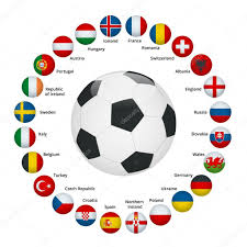 Football Country Flags Euro 2016 In France Flags Of European Countries Participating To