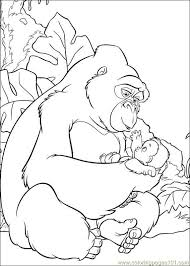 coloring page of gorilla gorilla1 coloring page free gorilla coloring pages