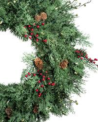 beacon hill outdoor cypress wreath and garland balsam hill