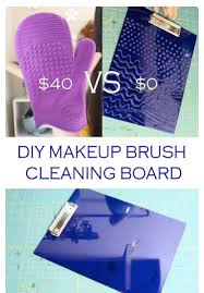 diy makeup brush cleaning board