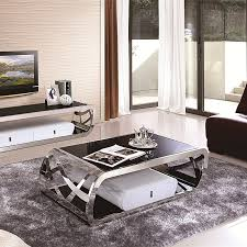 Mirror Living Room Tables Stainless Steel Coffee Table Modern Living Room Coffee Table