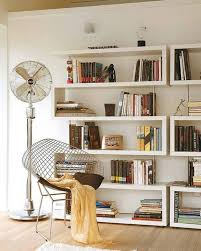 small home library with modern bookcases creating small home