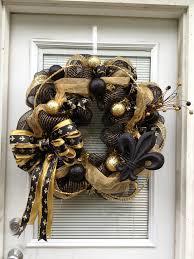 saints ribbon new orleans saints wreaths new orleans saints wreath who dat