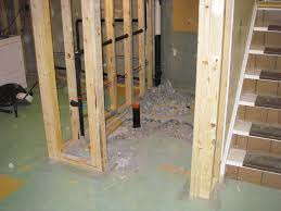 how to finish a roughed in basement bathroom basements ideas