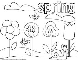 spring coloring sheets spring time coloring pages picture of springtime coloring page