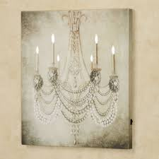 lighted pictures wall decor vintage chandelier led lighted canvas art
