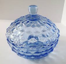 indiana glass pedestal clear glass covered dish whitehall