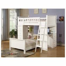 White Wood Loft Bed With Desk by Furniture White Wooden Bunk Bed With Stairs And Drawer Plus