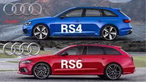 audi rs wagon 2018 audi rs4 avant vs audi rs6 avant youtube