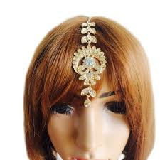 hair chains flower drop hair clip tikka indian forehead jewelry
