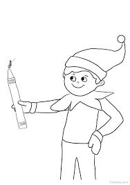 printable elf girl elf printable coloring pages elf printable coloring pages free of on