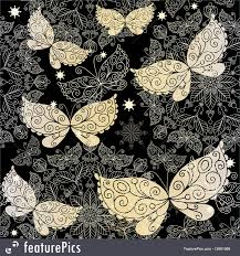 abstract pattern butterfly abstract patterns vintage dark seamless pattern stock