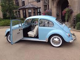 blue volkswagen beetle vintage 1970 vw beetle 1200 restored marina blue ivory in crewe