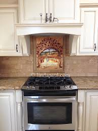 kitchen backsplash adorable tuscan tile wall art custom mosaic