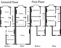 upstairs floor plans floorplans for adding an upstairs bathroom extension