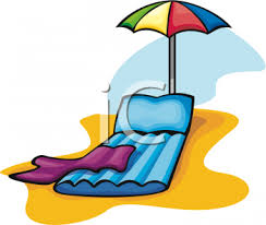Blow Up Beach Chair by Clipart Picture Of An Inflatable Beach Lounge Chair And Umbrella