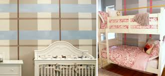 diy how to paint a plaid accent wall nursery walls and wall murals