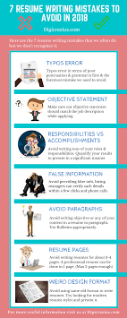 avoiding resume mistakes 7 resume writing mistakes to avoid in 2018 infographic e