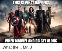 Funny Superhero Memes - this is what happens fbcomsuperhero meme when marvel and dc get